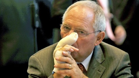 SchäubleMittelfinger