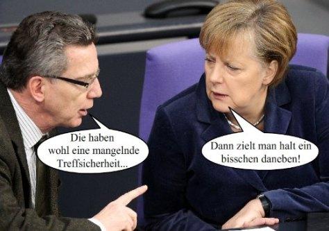 Fotowitz Merkel / de Maiziere