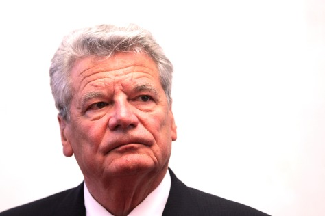 Bundespräsident Joachim Gauck, aufgenommen am Mittwoch (22.08.2012) im Landtag in Mainz. Gauck ist zum offiziellen Antrittsbesuch in Rheinland-Pfalz. Foto: Fredrik von Erichsen dpa/lrs